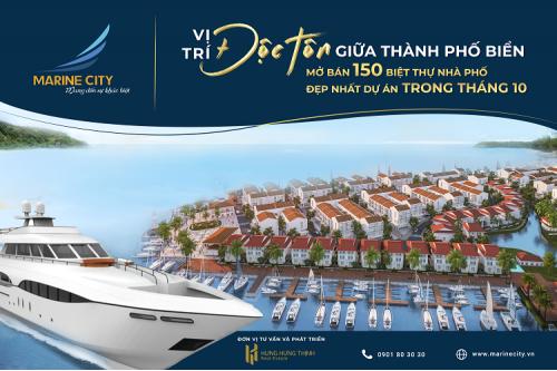 Mở bán đợt cuối khu đô thị Marine City - Vũng Tàu