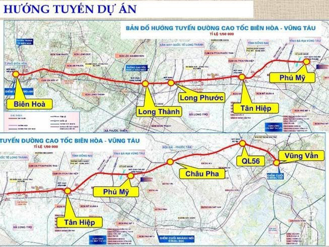 Cao tốc Biên Hòa – Vũng Tàu khởi công xây dựng năm 2021