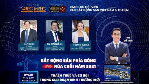 Chương trình hội thảo trực tuyến  BẤT ĐỘNG SẢN NỬA CUỐI NĂM 2021
