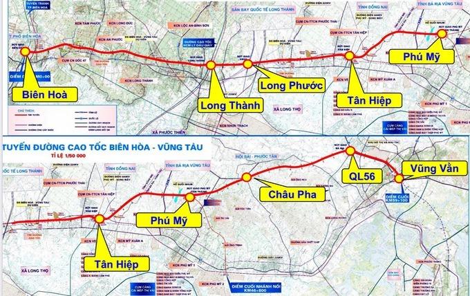 Chuẩn bị đầu tư cao tốc Biên Hòa - Vũng Tàu
