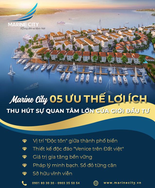 Marine City – 05 ưu thế Vàng thu hút sự quan tâm lớn của giới đầu tư